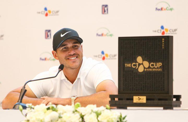 2018년 더CJ컵 공식 인터뷰에서 환하게 미소짓는 우승자 브룩스 캡카