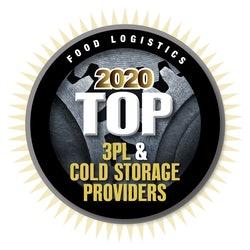 CJ대한통운 미국 통합 법인, 콜드체인물류로 역량 인정받아라는 보도자료에 미국 식품 물류전문지 'Food Logistics'로부터 2020 TOP 3자 물류 & 콜드스토리지 공급업체로 선정되었다는 로고가 삽입되어 있다.