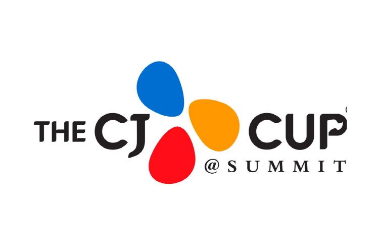 미국프로골프 투어 정규대회 'THE CJ CUP' tvN에서 만난다! 15일(금)부터 18일(월)까지 나흘간 중계! 보도자료에 'THE CJ CUP' 공식 로고가 삽입되어 있다.